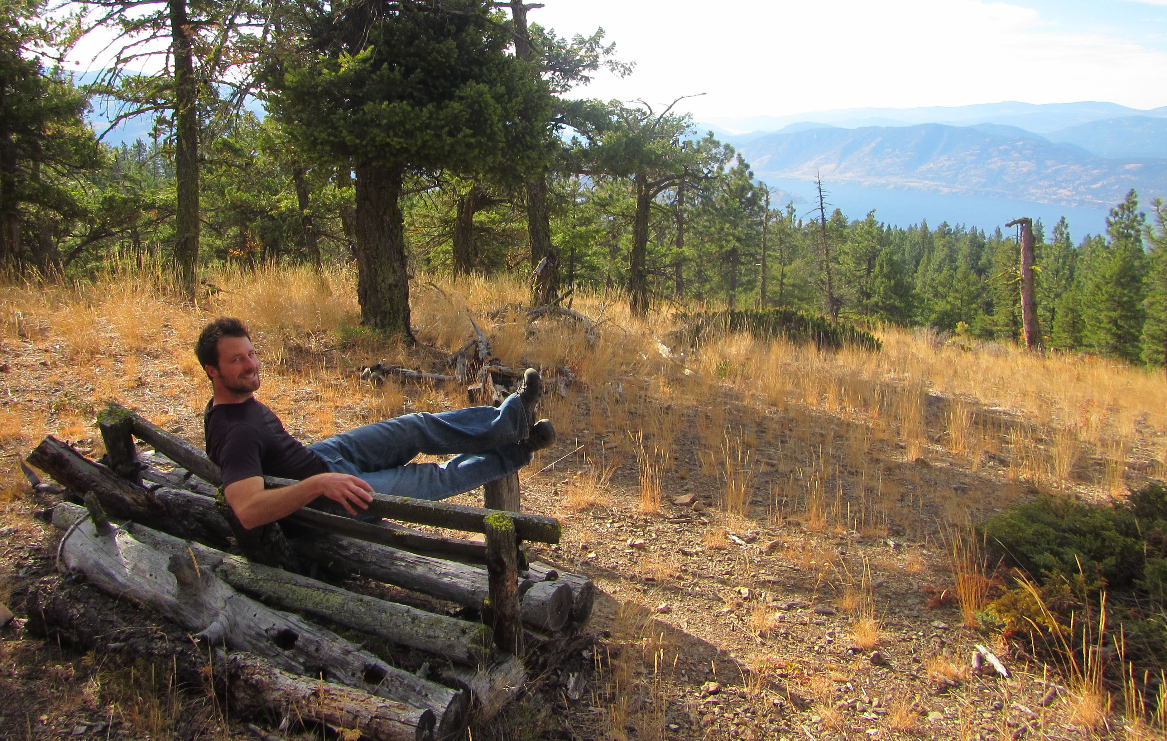 Summit bench on Mt. Drought