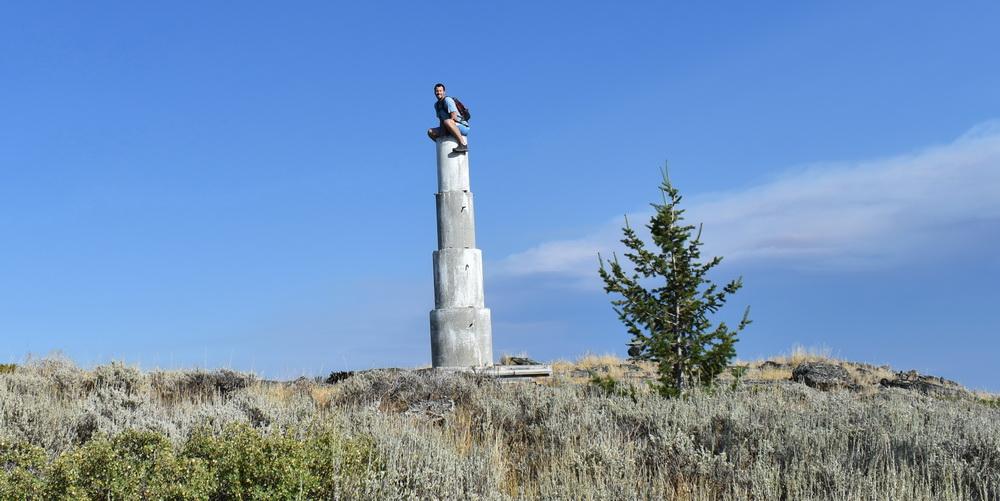 Strange cement pedestal at Kobau Mountain