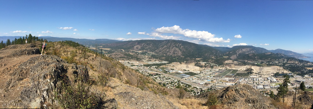 View over West Kelowna from the summit