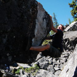 One of the many Boulderfield boulders.