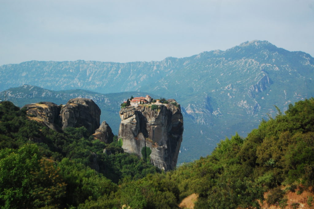 Spectacular scenery in Meteora