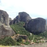 Meteora viewed from Agion Spevma