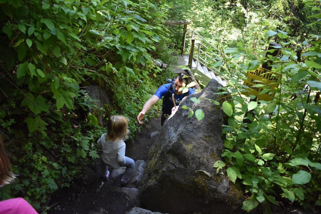 Moul Falls Steep Hike Down